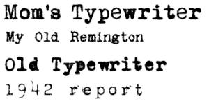 Typewriter-skrifter