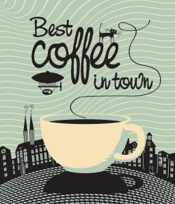 Kaffebilde i retrostil fra iStock