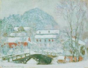 Monets maleri av Løkke bro