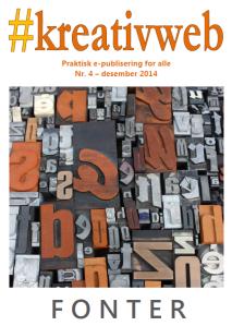 Forside #kreativweb nr. 4, desember 2014