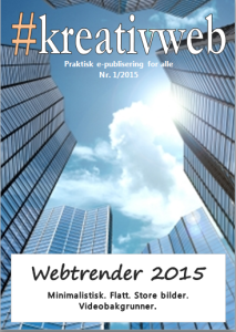 Forside #kreativweb nr. 1/2015