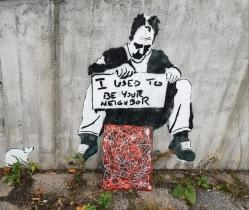 Graffitifyr i et hjørne